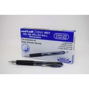 Uni-ball 704519 SigNo 207 Gel Rollerball Pen Retractable Fine 0.7mm Tip 0.5mm Line Blue Ref 9004601 [Pack of 12]