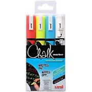 uni-ball Chalk Marker PWE-5M Assorted Pack of 4