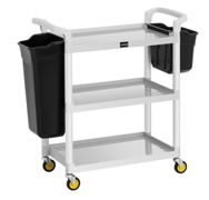 Uniprodo Hotel Service Cart - 150 kg - 2 containers UNICLEAN 150
