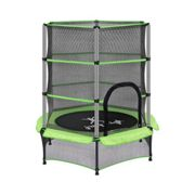 Uniprodo Factory seconds Kid's Trampoline - with safety net - 140 cm - 50 kg - green UNI_TRAMPOLINE_01