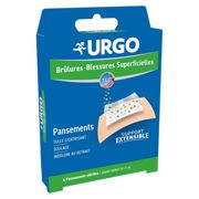 Urgo bandages burns and wounds wide Format box of 4