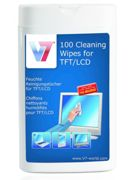 V7 Cleaning Wipes Small Tube 100pcs For TFT LCD Notebook