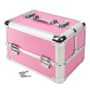 Vanity case with 4 compartments - rose