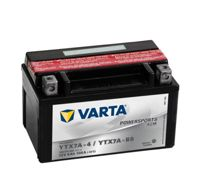 Varta Powersports AGM YTX7A-4 Motorcycle Battery YTX7A-BS 506015005 12V 6Ah 105A