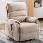 Vauxhall Fabric Electric Riser Recliner Chair In Lisbon Wheat