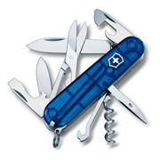 Victorinox CLIMBER 'JELLY' BLUE Swiss army knife - 14 function swiss made knife