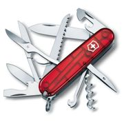 Victorinox HUNTSMAN JELLY RED Swiss army knife 15 function - genuine Swiss Made