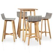 vidaXL 5 Piece Outdoor Dining Set Solid Acacia Wood