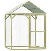 vidaXL Chicken Cage 1.5x1.5x2m Impregnated Pinewood Hen Poultry House Coop