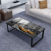 vidaXL Coffee Table with Glass Top Rectangular