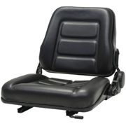 vidaXL Forklift & Tractor Seat with Adjustable Backrest Black