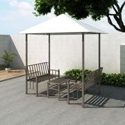 vidaXL Garden Pavilion with Table and Benches 2.5x1.5x2.4 m