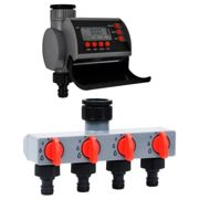 vidaXL Garden Water Timer with Single Outlet and Water Distributor