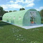 vidaXL Greenhouse with Steel Foundation 27m² 900x300x200 cm