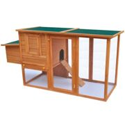 vidaXL Outdoor Chicken Cage Hen House with 1 Egg Cage Wood Coop Carrier House