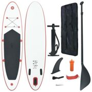 vidaXL Stand Up Paddle Board Set SUP Surfboard Inflatable Red and White Sports