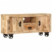vidaXL TV Cabinet Rough Mango Wood 120x30x50 cm