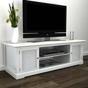 vidaXL White Wooden TV Stand