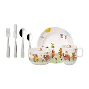 Villeroy & Boch Hungry as a Bear children's dinnerware and cutlery 7 pieces