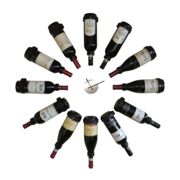 Vini Wall mounted wine rack for 12 bottles with clock
