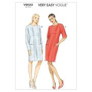 Vogue Very Easy Women's Dress Sewing Pattern, 9022