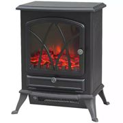 Warmlite 2KW LED Black Cast Iron Effect Stove Style Fire