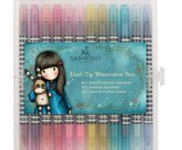 Watercolor Fountain Gorjuss Santoro Brights (12pcs), Docrafts, Non-permanent, Markers, Markers, Art Supplies