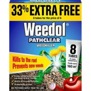 Weedol Pathclear Weedkiller Liquid Concentrate 6 + 2 tube free 8 Tubes