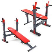 Weight Bench With Barbell Rack Adjustable Dip Shoulder Chest Press