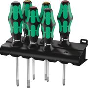 Wera Kraftform Plus Lasertip 335/350/355/6 Screwdriver SL/PH/PZ 6 Piece Set