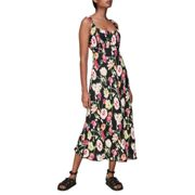 Whistles Maila Electric Floral Dress - Blk/multi female