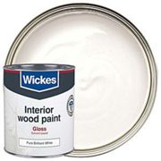 Wickes Colour @ Home One Coat Gloss Paint - Pure Brilliant White 750ml
