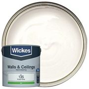 Wickes Frosted White - No. 135 Vinyl Silk Emulsion Paint - 2.5L