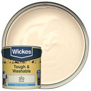 Wickes Magnolia - No. 310 Tough & Washable Matt Emulsion Paint - 2.5L