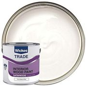 Wickes Satinwood Paint - Pure Brilliant White 2.5L