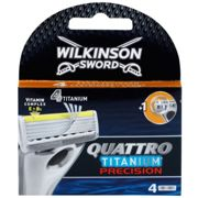 Wilkinson Sword Quattro Titanium Precision Replacement Blades 4 pcs 4 pc