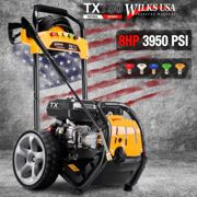 Wilks USA TX750 High Performance Petrol Pressure Washer 3950PSI | Professional & Domestic Surface Cleaning Jet Washer 8.0HP/272 Bar