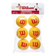 Wilson Starter Foam Balls (Stage 3) 6 Pack , Colour: red , Size: nosize