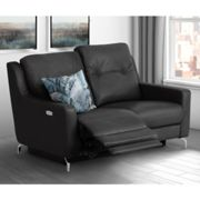 Windsor Faux Leather Electric Recliner 2 Seater Sofa In Black