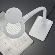 With base - LED magnifying glass light Lupo, white