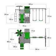 Wooden climbing frame with slide CrazyCoconut Club XXL