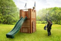 Wooden playhouse Arthur (with slide) - Axi (A030.109.00)