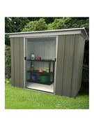 Yardmaster Yardmaster 6 X 4 Ft Platinum Tall Metal Pent Roof Shed One Colour
