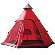 Yellowstone Festival 4 Man Tipi Tent - Red