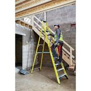 Youngman S400 10 Tread Fibreglass Platform Stepladder
