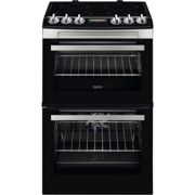 Zanussi 55cm Double Oven Electric Cooker with Catalytic Liners - Stainless Steel