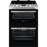 Zanussi 60cm Double Oven Electric Cooker with Catalytic Liners - Stainless Steel