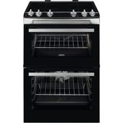 Zanussi 60cm Double Oven Induction Electric Cooker - Stainless Steel