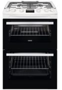 Zanussi ZCG63260WE Gas Cooker with Double Oven