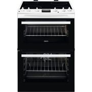 Zanussi ZCV66250WA 60cm Double Oven Electric Cooker With Ceramic Hob - White